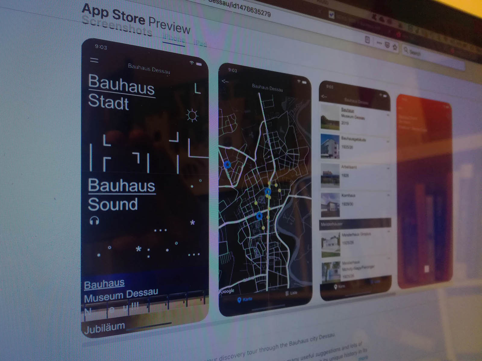"Shorts featured in ""Bauhaus Dessau"" app"